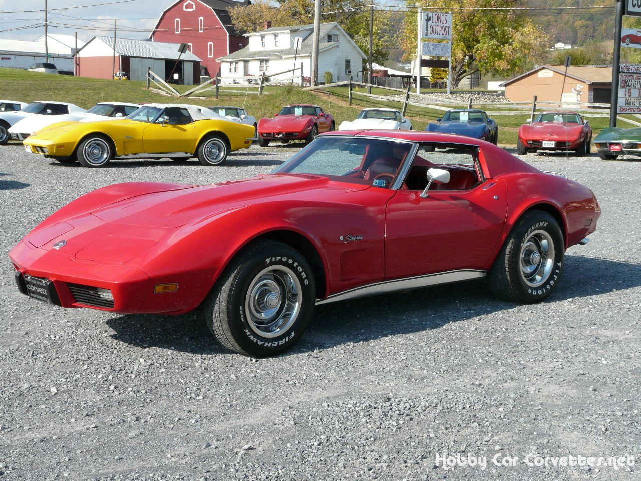 1976 red red corvette 4spd ver numbers matching l48 350 4spd red